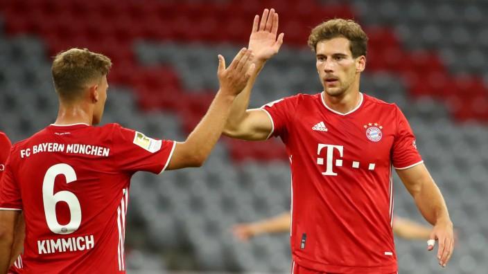 FC Bayern: Joshua Kimmich und Leon Goretzka im Herbst 2020 gegen Schalke 04
