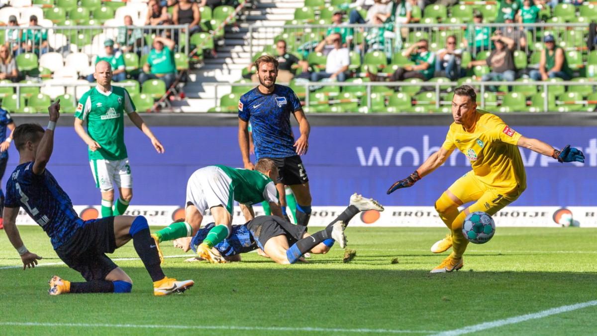 Werder Bremen gegen Hertha
