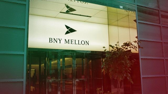 FinCEN-Files: Der Büroeingang der BNY Mellon in Downtown Manhattan, New York City. BNYM ist das älteste Bankhaus der Vereinigten Staaten.