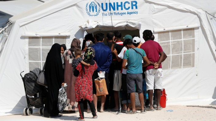 Flüchtlinge auf Lesob