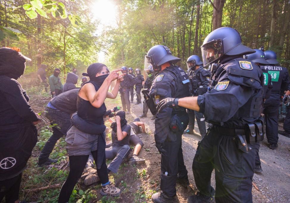 Protest im Dannenröder Wald