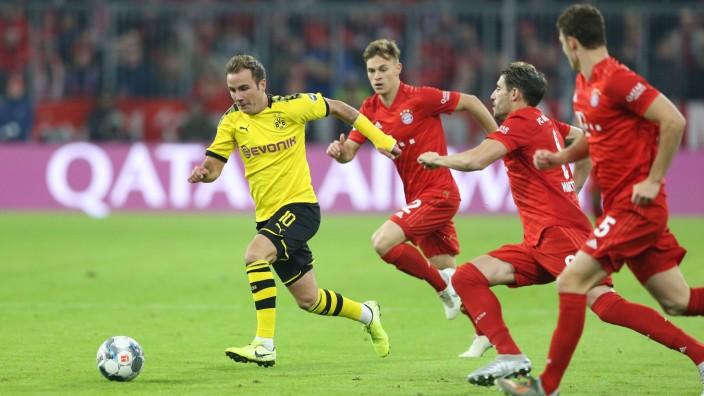 Mario Götze 2019 beim Spiel Borussia Dortmund gegen Bayern München