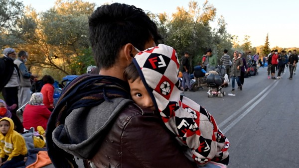 Thousands Of Migrants Displaced After Fire In Lesbos Camp