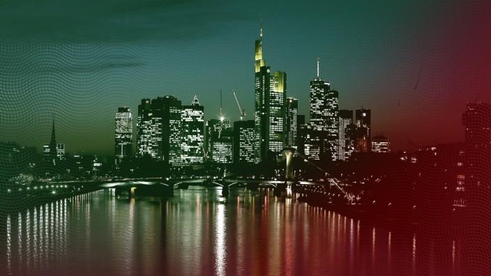 Reaktionen auf die FinCEN-Files: Frankfurter Skyline: Die Banken hätten die Maßnahmen gegen Geldwäsche verschärft, sagt Bafin-Direktor Thorsten Pötzsch.