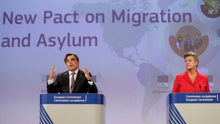 New Pact for Migration and Asylum news conference in Brussels