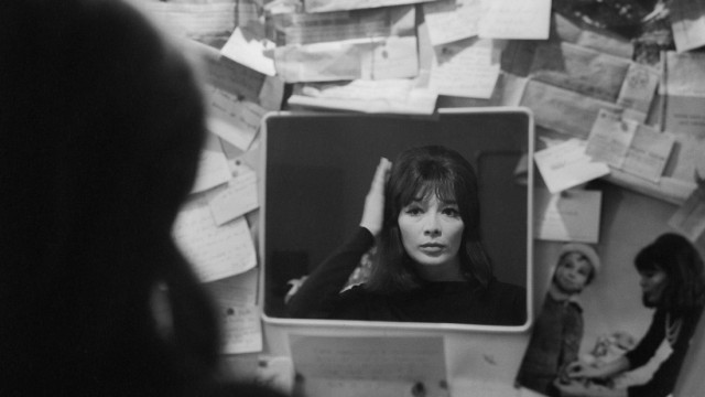 Singer Juliette Greco Getting Ready for Performance