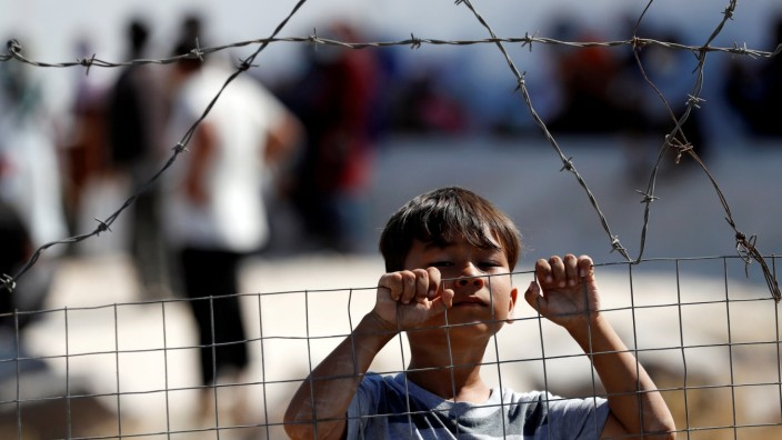 New temporary camp for migrants and refugees on the island of Lesbos