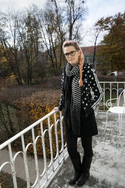 Evelyn Hribersek im Ebenböckhaus in Pasing, 2017