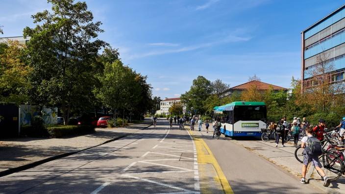 Einbahn - Kiss and Park - Schulzentrum (alt) Vaterstetten