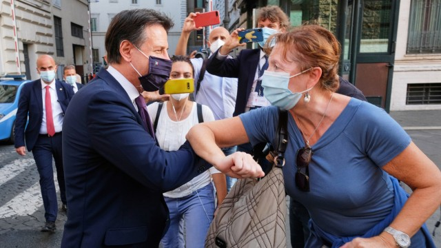 Italienischer Ministerpräsident Conte in Rom