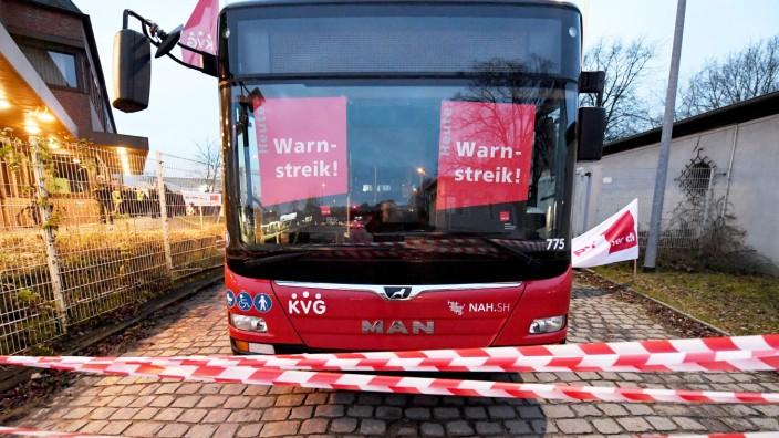 ÖPNV: Warnstreik im öffentlichen Nahverkehr in Kiel 2020