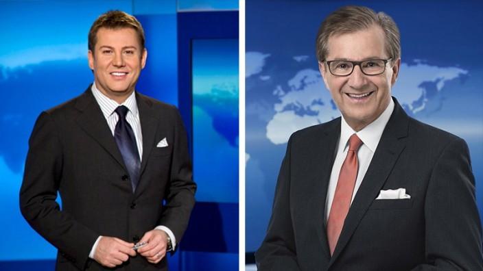 Tagesschau-Sprecher Jens Riewa und Jan Hofer