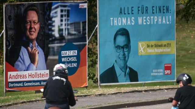 Wahlplakate Stichwahl Dortmund