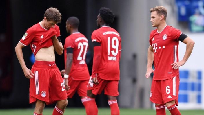 Fussball 1. Bundesliga Saison 2020/2021 1 . Spieltag TSG 1899 Hoffenheim - FC Bayern Muenchen 27.09.2020 Enttaeuschung