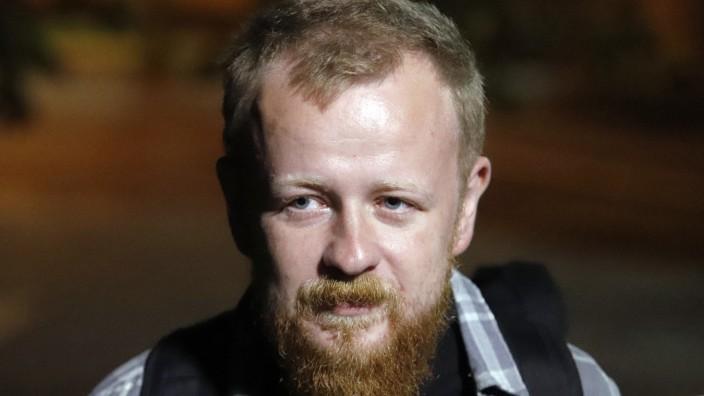 der belarussische Journalist Alexander Vasukovich (c) Nadia Buzhan