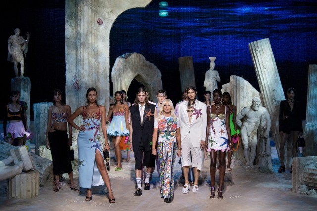 Versace Spring/Summer 2021 women's and men's collection in Milan