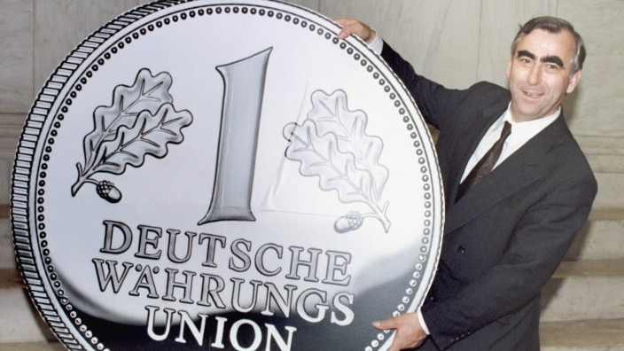 Germany East Berlin Theo Waigel Monetary Unification