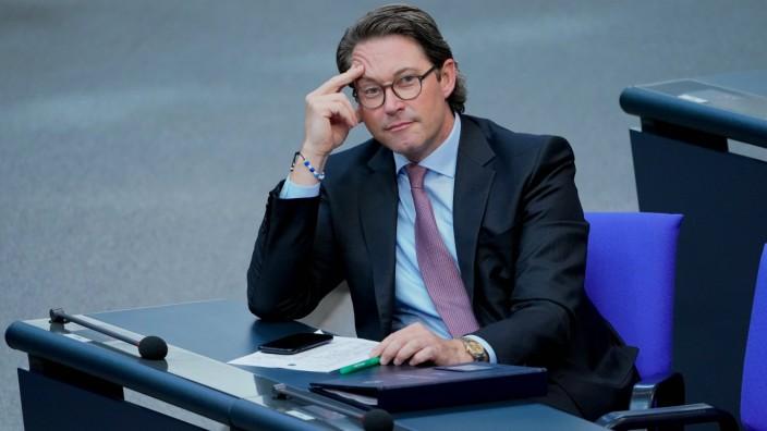 178. Bundestagssitzung im Reichstag in Berlin Aktuell, 29.09.2020, Berlin Andreas Scheuer der Bundesminister fuer Verke