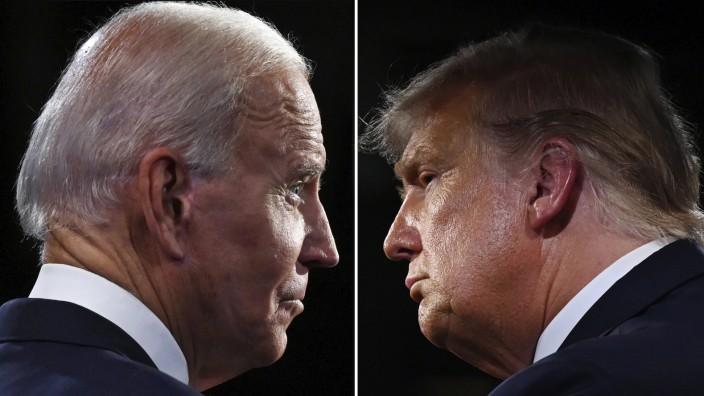 Biden und Trump