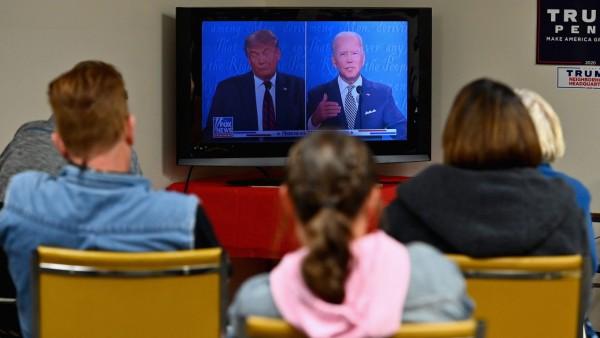 Trump-Anhänger während des ersten TV-Duells