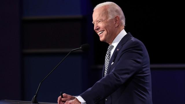 US-Wahl 2020: Joe Biden bei einem TV-Duell mit US-Präsident Trump