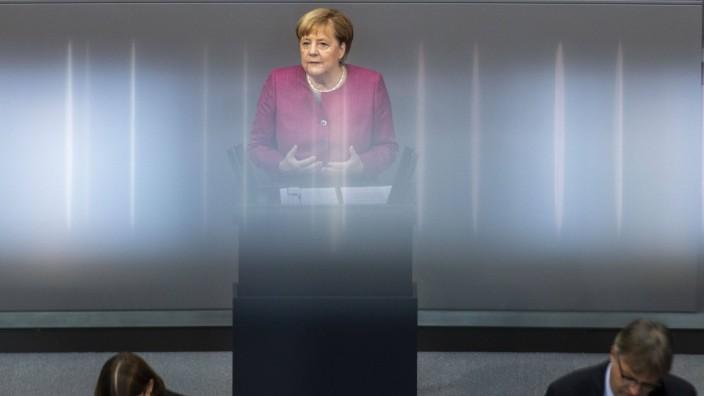 Deutschland, Berlin, Bundestag, 179. Sitzung, Generaldebatte zum Haushaltsentwurf, Rede von Bundeskanzlerin Angela Merk