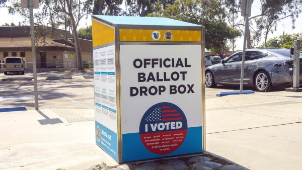 September 24, 2020 - Los Angeles, California, USA - At least 77 ballot drop boxes have been placed outside Los Angeles