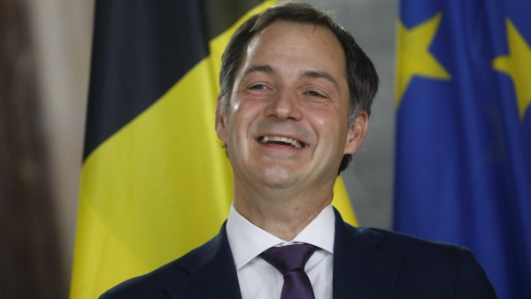 Minister of Cooperation Development, Digital Agenda, Postal services and Finance, Open Vld Alexander De Croo pictured a