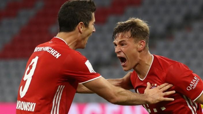 Supercup 2020: Joshua Kimmich bejubelt sein Tor gegen Borussia Dortmund