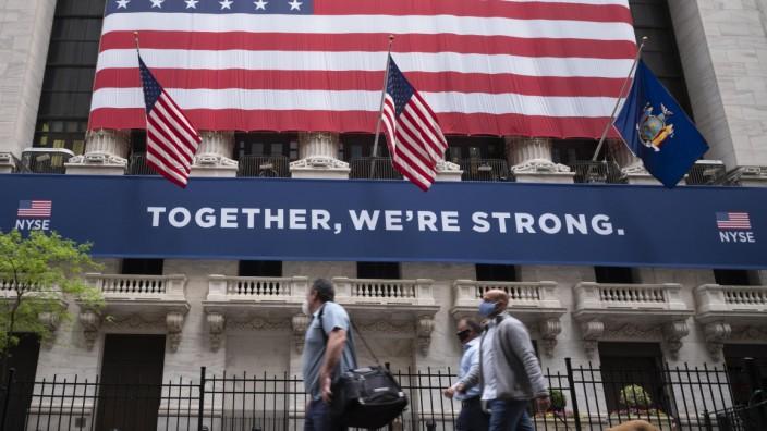 Börse: Wall Street während der Corona-Pandemie in den USA