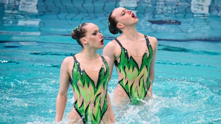 Marlene BOJER ( GER ) - Daniela REINHARDT ( GER ) - NATATION SYNCHRONISEE : 9eme Open de France - Paris - 06/03/2020 Fed; Synchronschwimmen