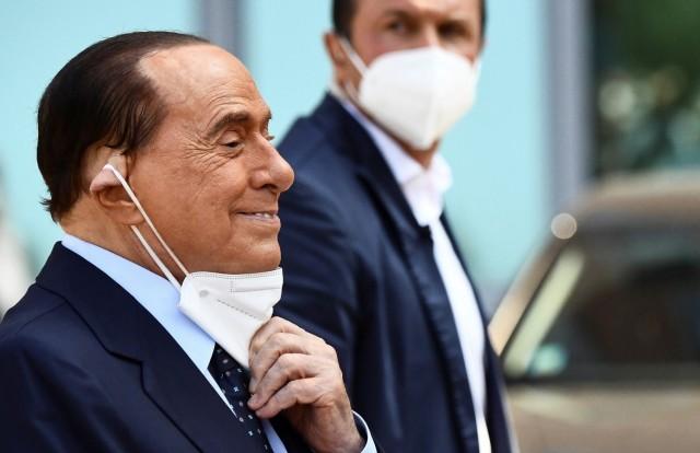 Former Italian Prime Minister Silvio Berlusconi is discharged from Milan's San Raffaele hospital