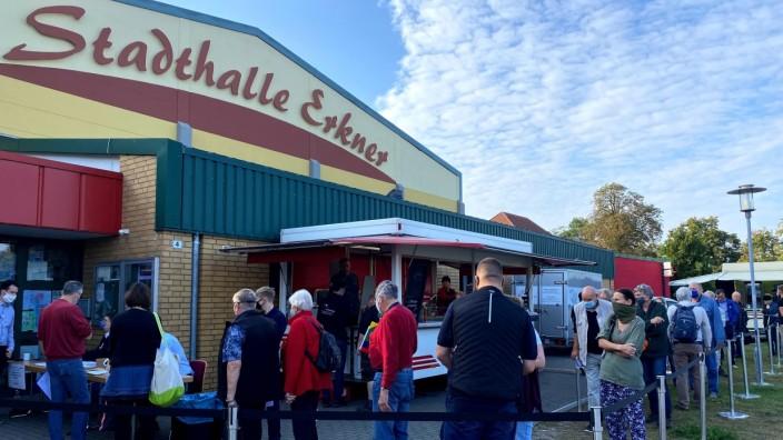 Townhall meeting in Erkner