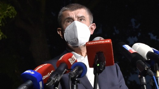 Czech Prime Minister and ANO chairman Andrej Babis speaks during a press conference after regional and Senate elections
