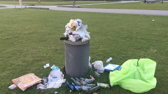 Müll am Riemer See