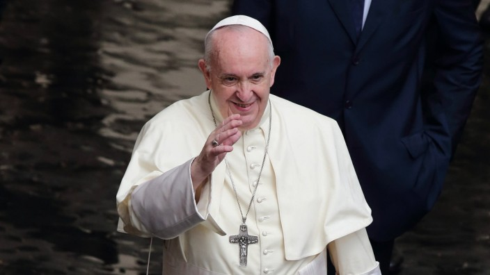 September 23, 2020 - Vatican City (Holy See) - POPE FRANCIS during his wednesday general audience in the courtyard of S