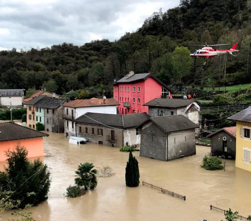 Unwetter in Norditalien