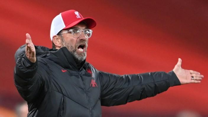 FC Liverpool: Jürgen Klopp 2020 bei einem Spiel gegen Arsenal