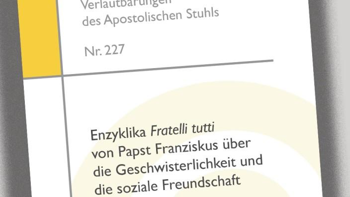 Papst Franziskus veröffentlicht Sozialenzyklika Fratelli tutti