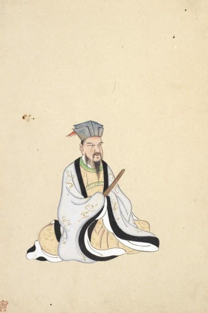 BAI JUYI Portrait de Bai Juyi (772-846) Illustration tiree d un album sur les poetes chinois realise au 19eme siecle. Cr