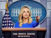 FILE PHOTO: White House Press Secretary McEnany speaks at the White House in Washington