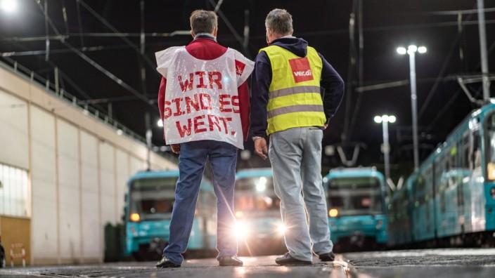 Verdi: Warnstreiks im öffentlichen Dienst 2020 in Frankfurt/Main