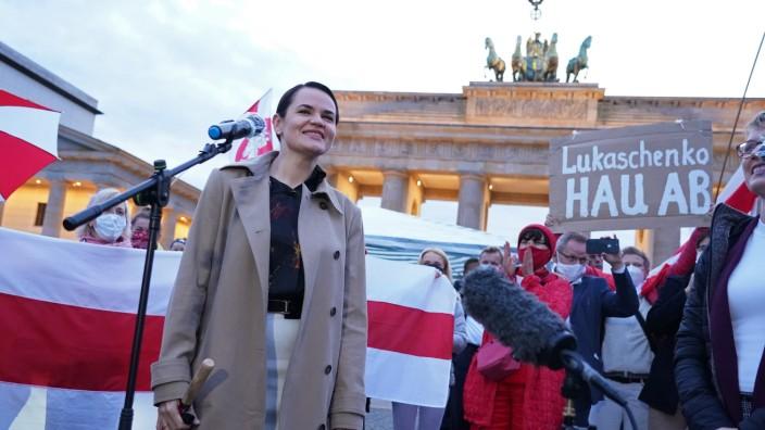 Belarussian Opposition Leader Svetlana Tikhanovskaya Visits Berlin