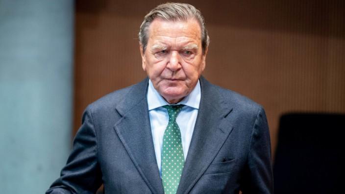 Schröder kritisiert Debatte über Stopp von Nord Stream 2