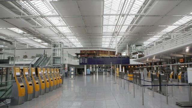 Corona-Stillstand des Flughafens München, 2020