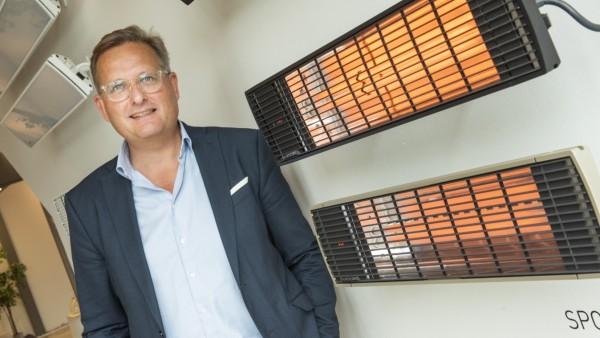 Sauerlach, Fa. Moonich verkauft Infrarotheizstrahler an die Gastronomie, Geschäftsführer Lars Keussen