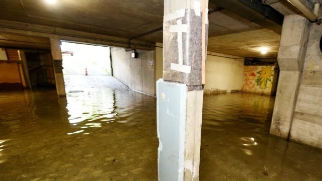 Wasserschäden in einem Wohngebäude in Schwabing, 2020
