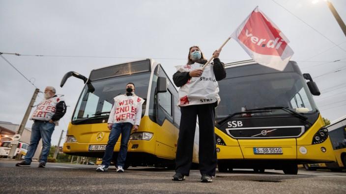 Warnstreik im Öffentlichen Nahverkehr - Stuttgart
