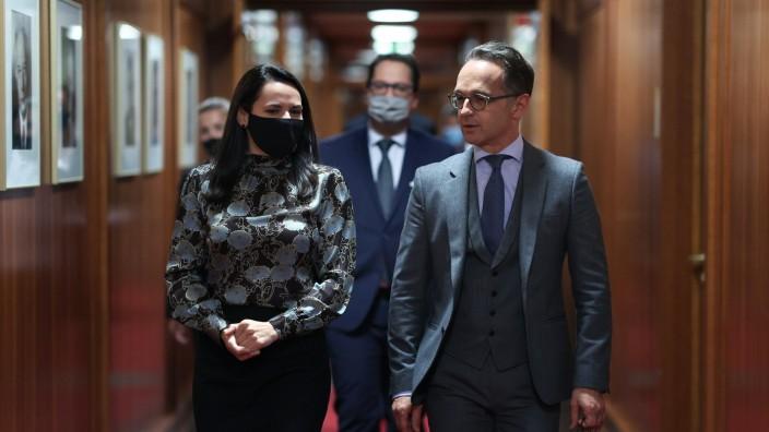 Heiko Maas, Bundesaussenminister, trifft Swetlana Tichanowskaja, parteilose Buergerrechtlerin und Kandidatin bei der Pra