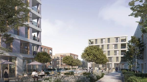 Siegerentwurf von H2M-Architekten für Bebauung Edeka-Areal